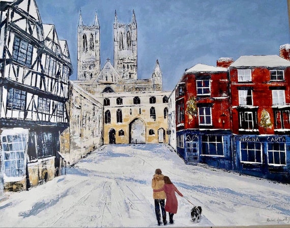 Christmas 2020 Lincoln, a Giclee Print from an original Acrylic painting