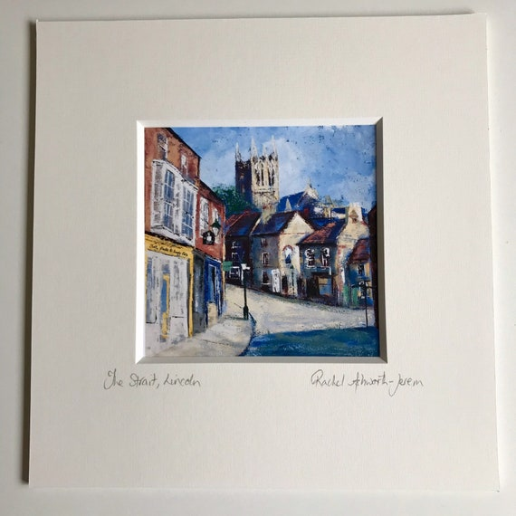 The Strait, Lincoln a Postcard Giclee Print