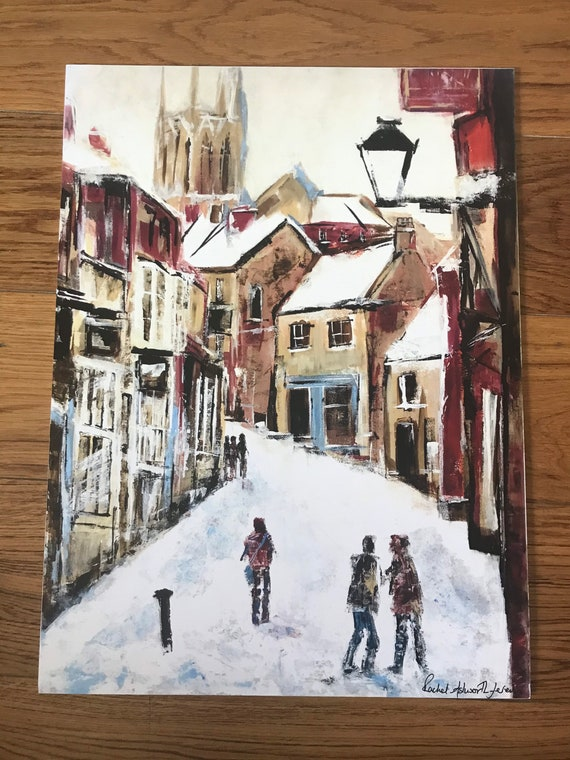 Lincoln, England Art. The Strait, Lincoln a hand finished Giclee Print from an original Acrylic painting
