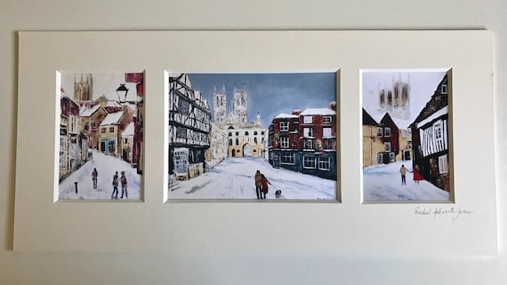 A Lincoln Triptych, from original Acrylic paintings