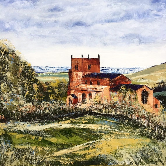 The Ramblers Church, Walesby, Lincolnshire a Giclee Print from an original Acrylic painting