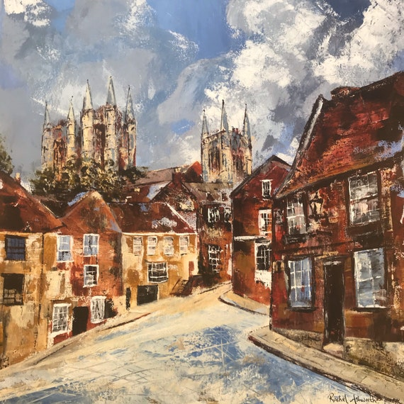 Christ's Hospital Terrace, Lincoln a Giclee Print from an original Acrylic painting