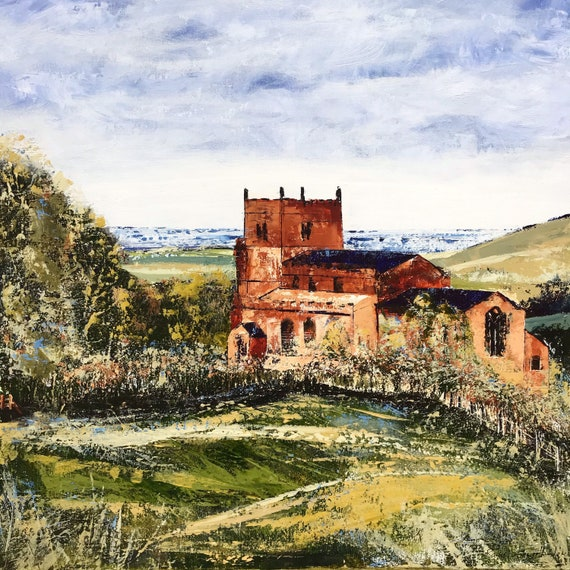 Walesby Ramblers Church, Walesby, Lincolnshire Wolds an original Acrylic painting