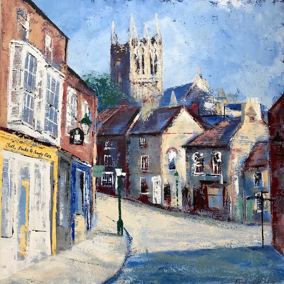 Lincoln, England. The Strait, Lincoln UK a gicleeprint from an original Acrylic painting