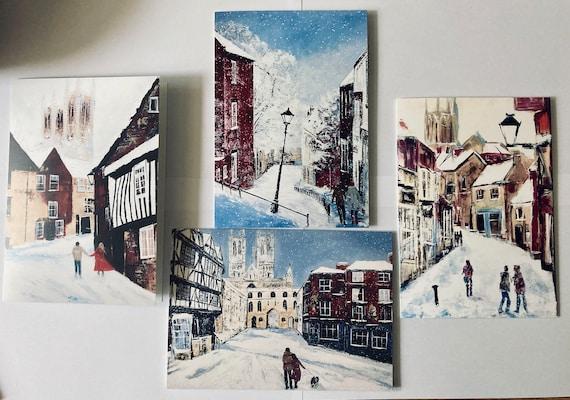 High Quality Lincoln Christmas Cards x 4