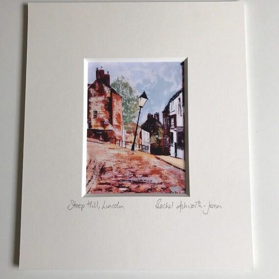 Steep Hill, Lincoln a Postcard Giclee Print