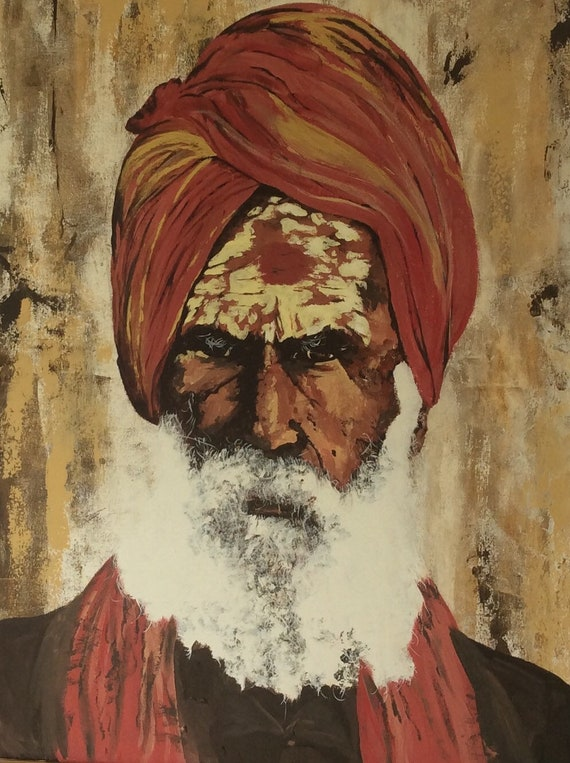 Indian Sikh a Giclee Print from an original Acrylic painting