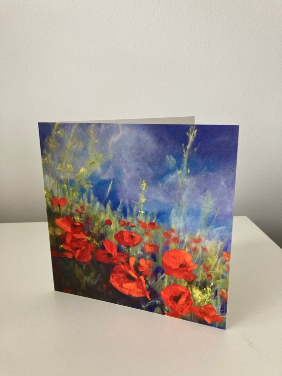 Poppy Flower Art Card