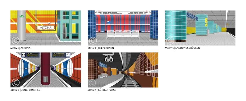 KUNSTDRUCK Hamburg S-Bahn stations image 0