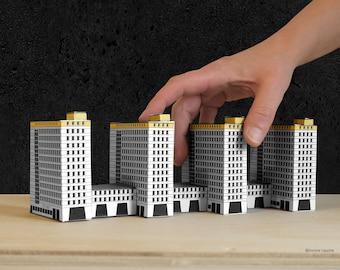 Architectural model for self-making modelled on the City-Hof-Häuser Hamburg.