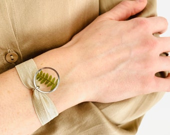 JULES Silver, Handmade bracelet, French brand jewelry, Nature and jewelry, Fern, Silver color