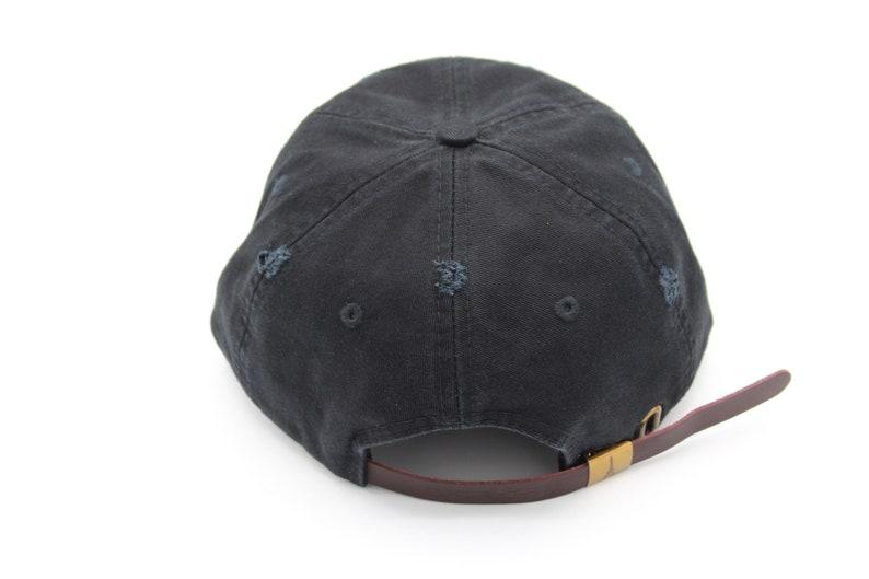 Black Dad Hat Distressed Dad Hat