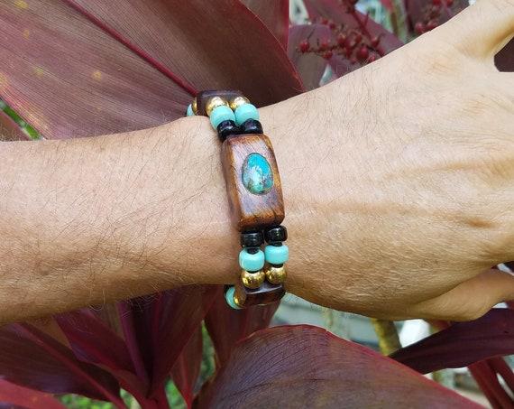 Naturally Harvested Hawaiian KOA Wood Bracelet (Men's)