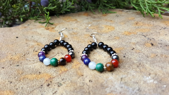 Chakra Earring with Black Onyx