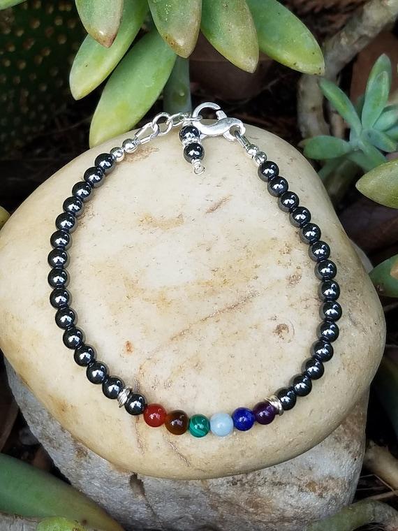 4 mm Hematite Chakra Gemstone (Stress) Bracelet