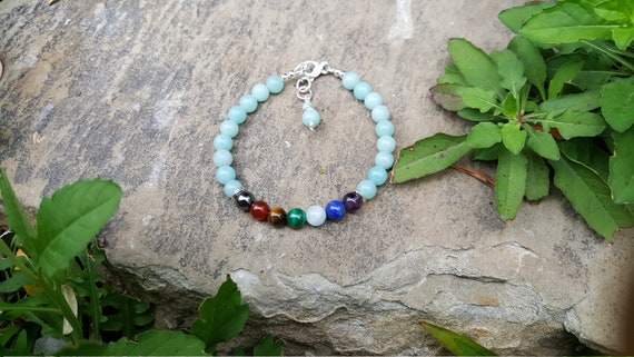 6mm Amazonite Chakra Gemstone (Filtering) Bracelet