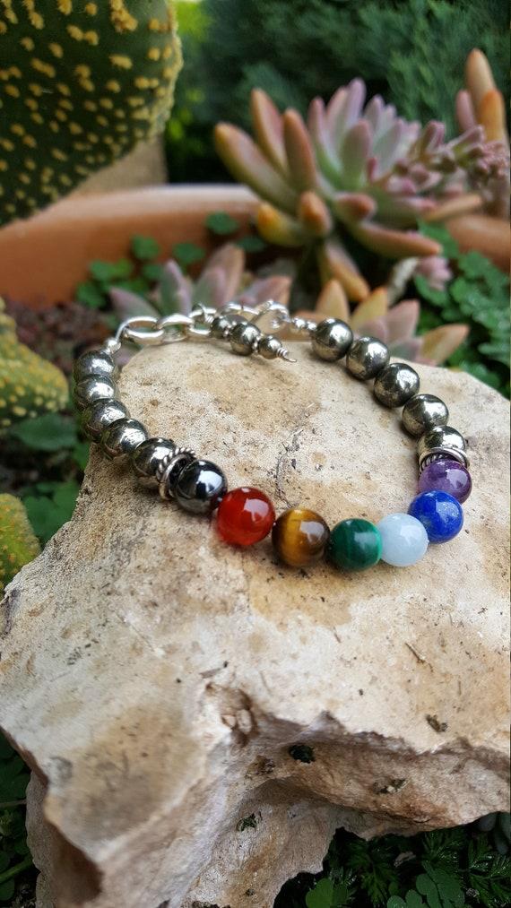 8 mm Pyrite Chakra Gemstone (Shielding) Bracelet