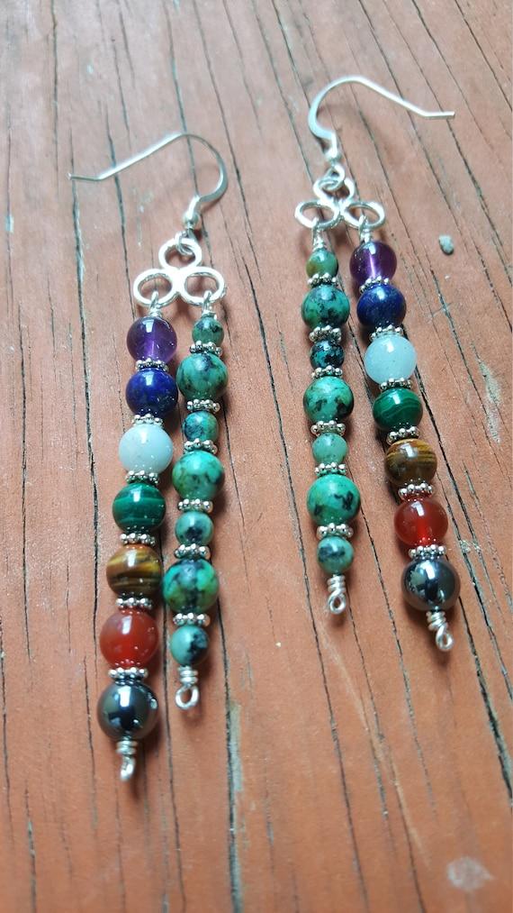 Turquoise Chakra Earrings