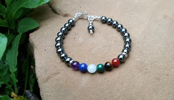6 mm Hematite Chakra Gemstone (Stress) Bracelet