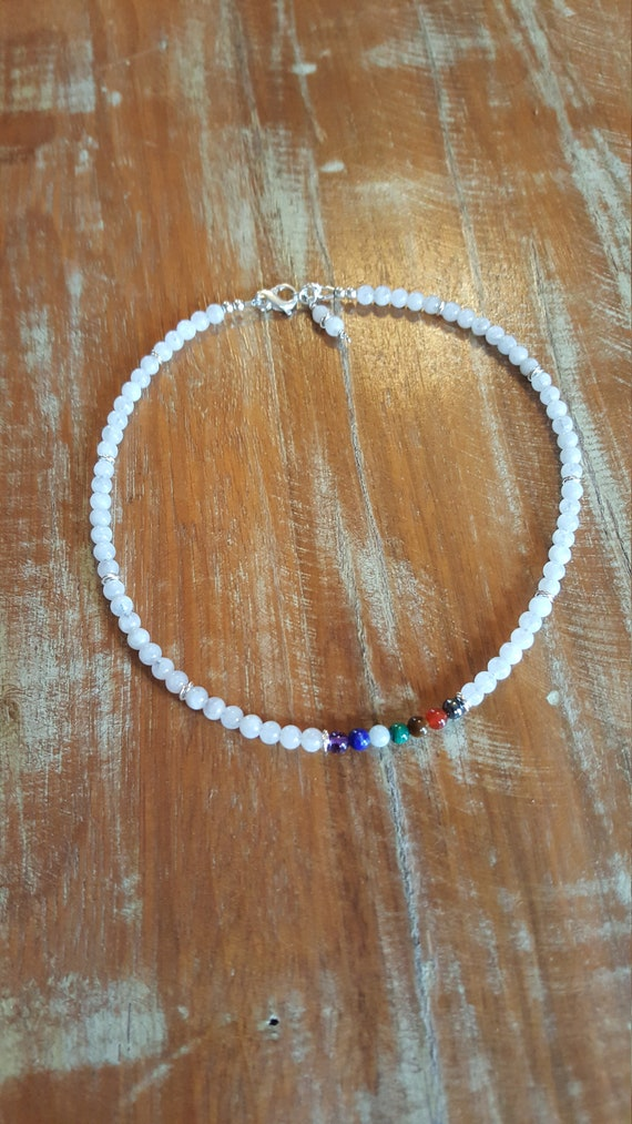 Chakra Moonstone Necklace