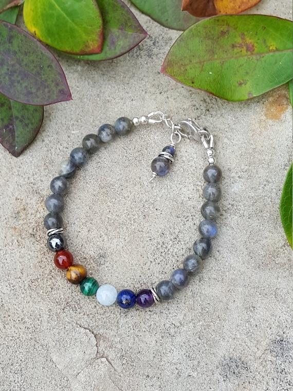 6 mm Labradorite Chakra Gemstone (Transformation) Bracelet