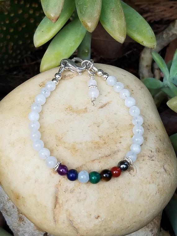 4 mm Moonstone Chakra Gemstone (New Beginnings) Bracelet