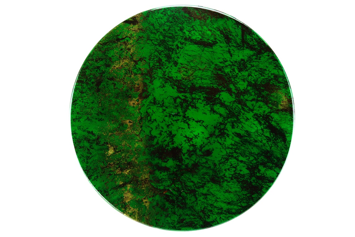 Green Black Veins Imitation Marble Tabletops