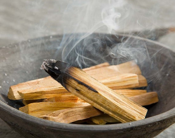 Palo Santo Smudging Sticks, High Resin, Holy Wood. Premium Certified Authentic, Wild Harvested Incense Stick Purifying, Cleansing, Healing