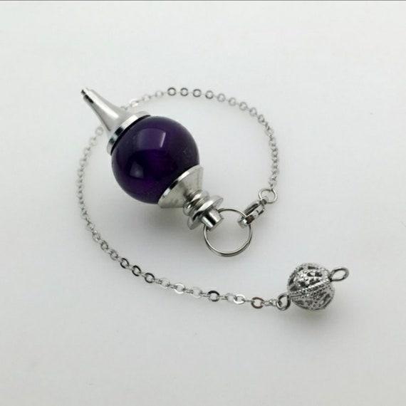 Amethyst Pendulum Reiki Dowsing Healing Divination
