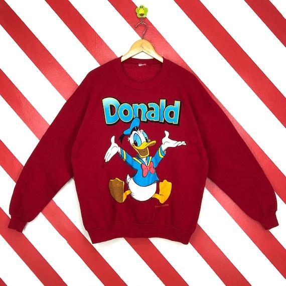 Vintage 90s Donald Duck Sweatshirt Donald Duck Cre