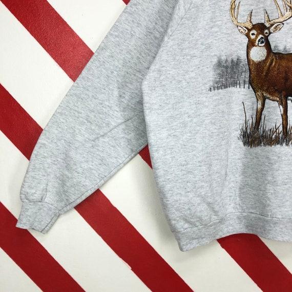 Vintage 90s Deer Sweatshirt Wildlife Deer Crewnec… - image 6