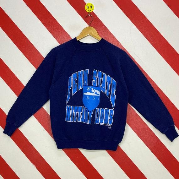 XL 1986 Penn State University Football men/'s sweatshirt vintage crewneck blue Nittany Lions National Champions blue 80/'s