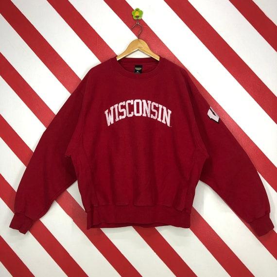 Vintage Wisconsin Badgers Sweatshirt Crewneck Wisc