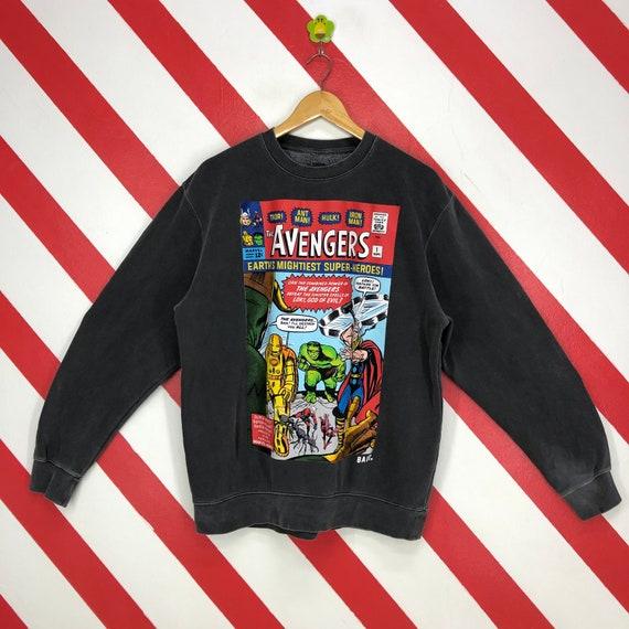 Vintage Marvel Avengers Sweatshirt Marvel Crewneck