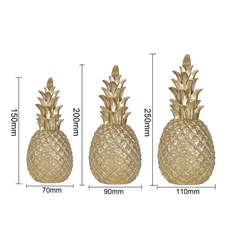 Table Decoration Crafts Gold Pineapple Fruit Crafts Gift for Her House Gift Living Room Wine Cabinet Window Desktop Home Ornament