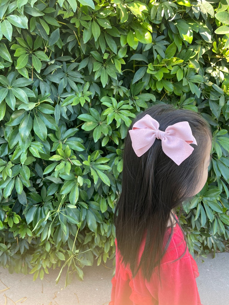 Suede hair bow l Suede single face bow l Pretty hair bow barrette l girls  hair bow l Winter Hair bow l Pretty hair pin l Hair bow l Big bow