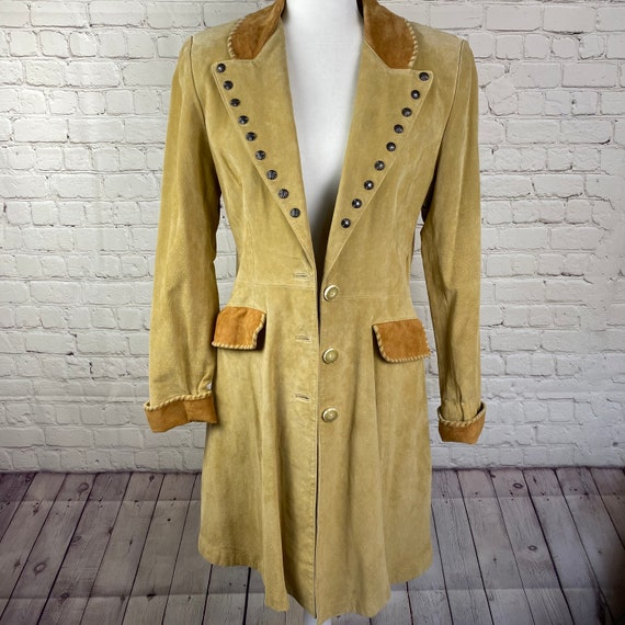 Vintage Scully leather and satin coat