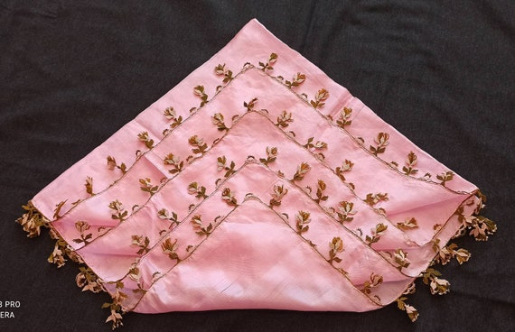 Embroidery scarves , antique scarf , needlelace