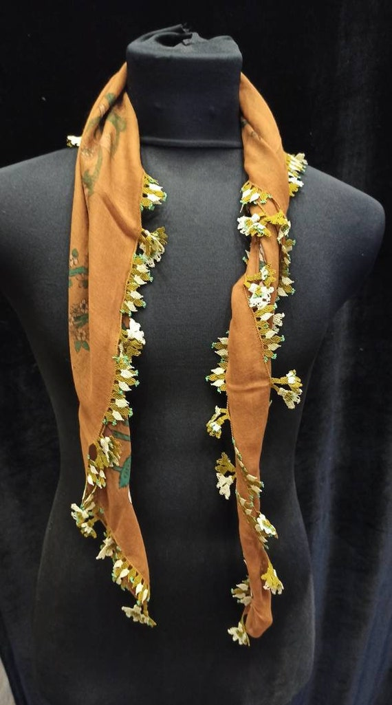 Embroidery  scarf , Anatolian antique handwork