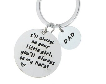 Father Daughter Gift   Dad Daughter Keychain   Fathers Day Gifts   Dad Birthday Gift   Metal Keychains   Keychain Gift Ideas