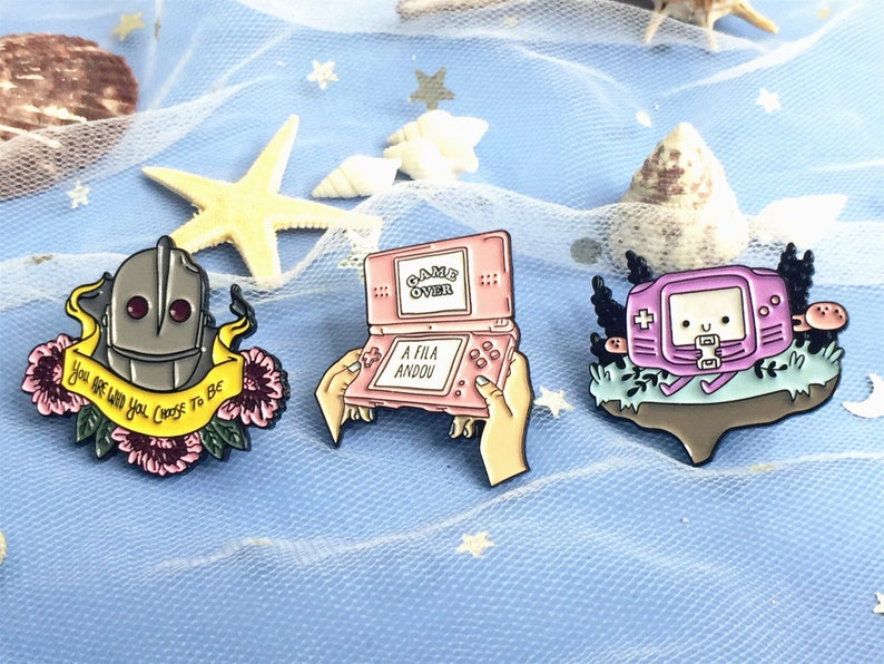 Game over you are who you choose to be enamel pin Pins Soft Enamel Pin cute enamel pin lapel pin Badge Pins for Backpacks Jeans Birthday