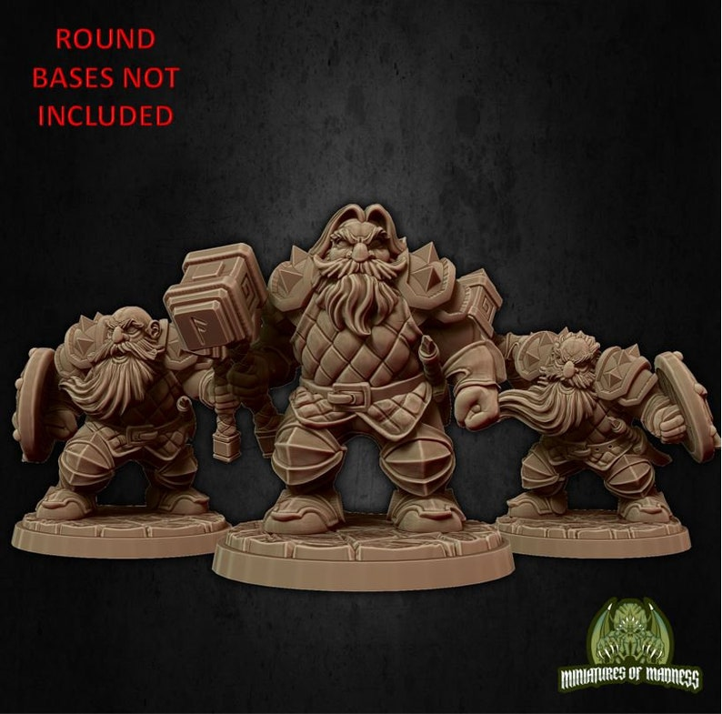 X3 Dwarfs Soldiers Set 1 2832MM SCALE  for Warhammer,RPG Rol miniatures,Dungeons and dragons
