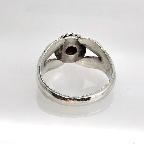 Sterling silver ring with cabochon Ruby - image 2