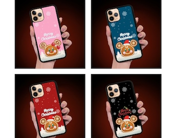 Christmas Gingerbread man Mickey, Minnie Disney inspired Phone Case, iPhone 13promax Case, iPhone 11 Pro Max, XS, iPhone 11 case, Holiday