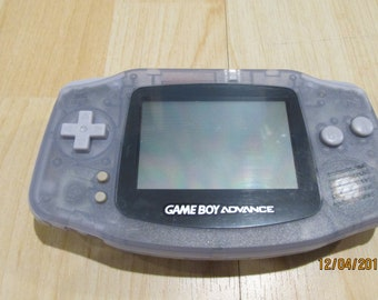 Restored to Like New (Renewed) Nintendo Gameboy Game Boy Advance GBA Glacier (Clear Milky Color) 6 months warranty