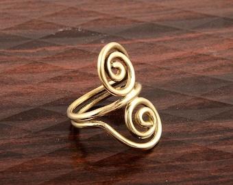 spiral ring,brass ring,midi ring,minimalist ring,boho rings,mens ring,rings for women,dragon shape ring