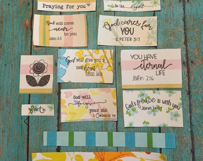 Bible verse fabric stickers set 4
