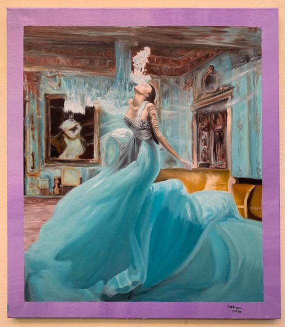 Original Abstract Art, Home Decor, Modern Wall Art, Hand Painted Canvas Art