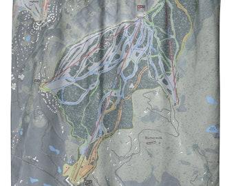 Buttermilk Ski Resort Map Shower Curtain