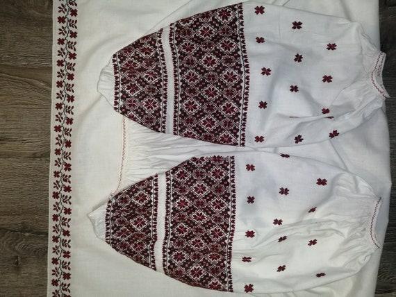 Vintage traditional Ukrainian embroidered dress V… - image 9